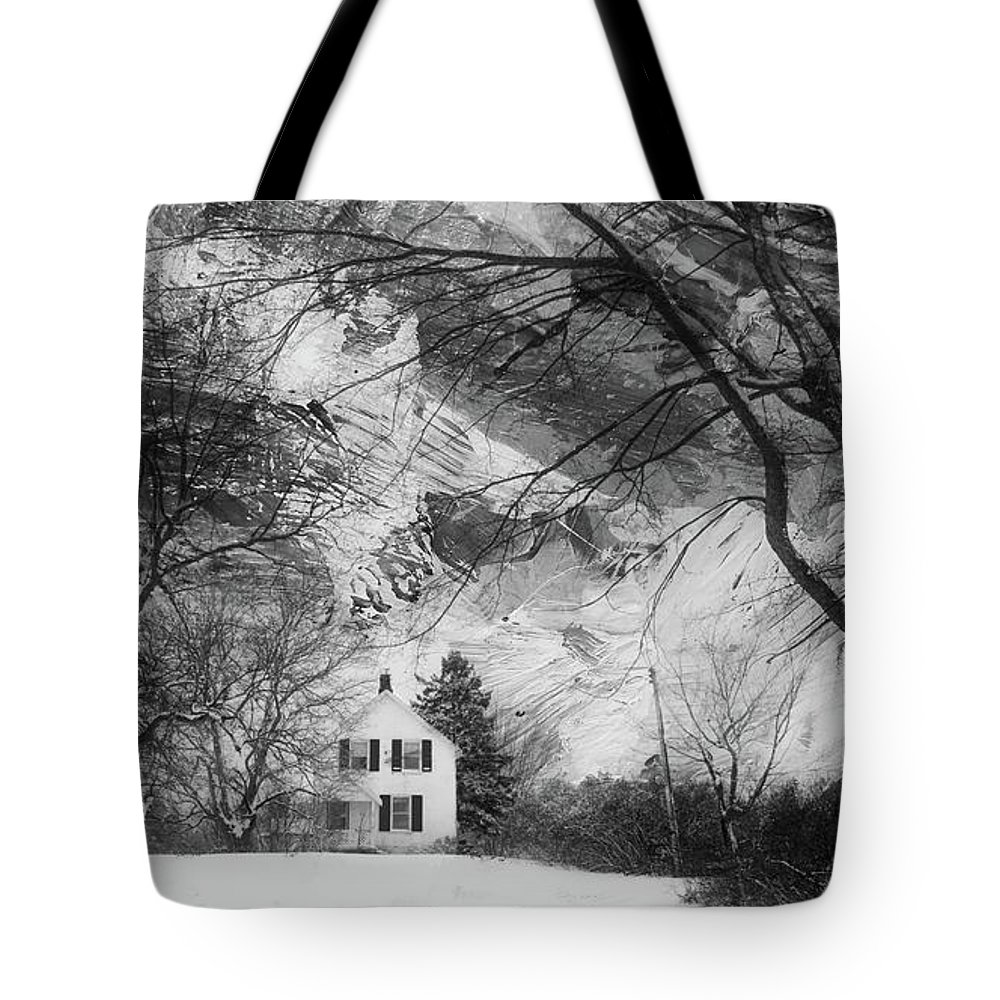 Landscape Tote Bag featuring the photograph White House In Winter by Jim Vance