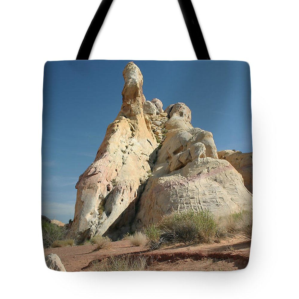 Desert Tote Bag featuring the photograph White Mounds by Mary Haber