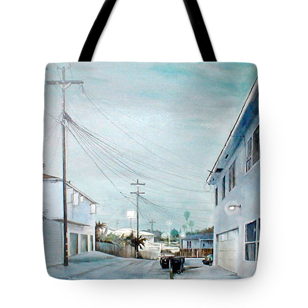 Cityscapes Tote Bag featuring the painting White Nights by Duke Windsor