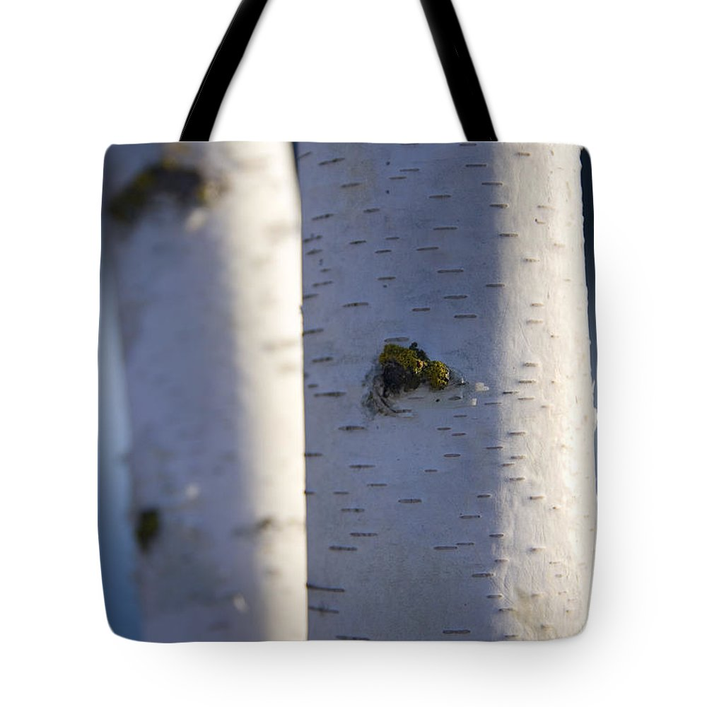 Bark Tote Bag featuring the photograph White On Blue by Idaho Scenic Images Linda Lantzy