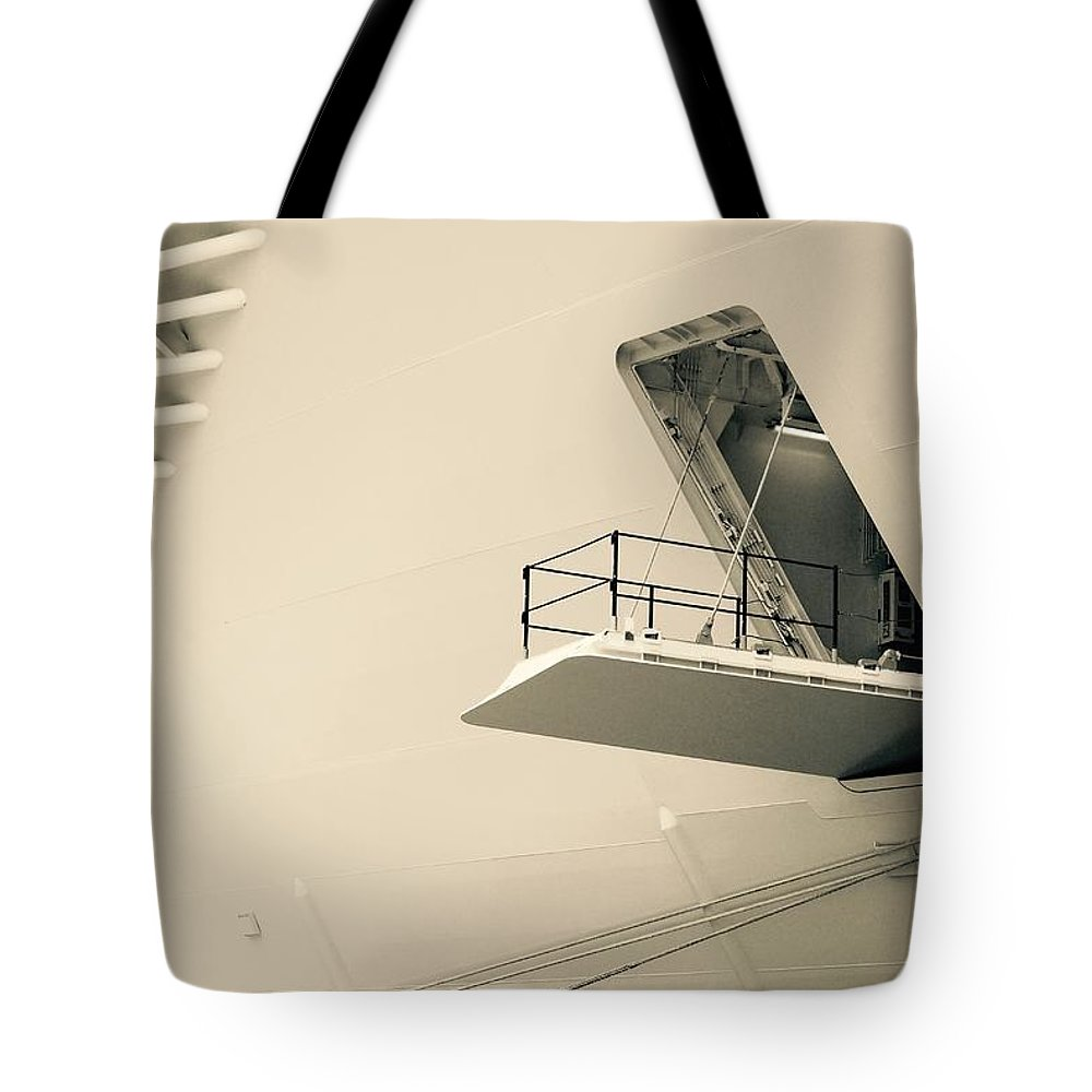 Hatch Tote Bag featuring the photograph White On White by David Coleman