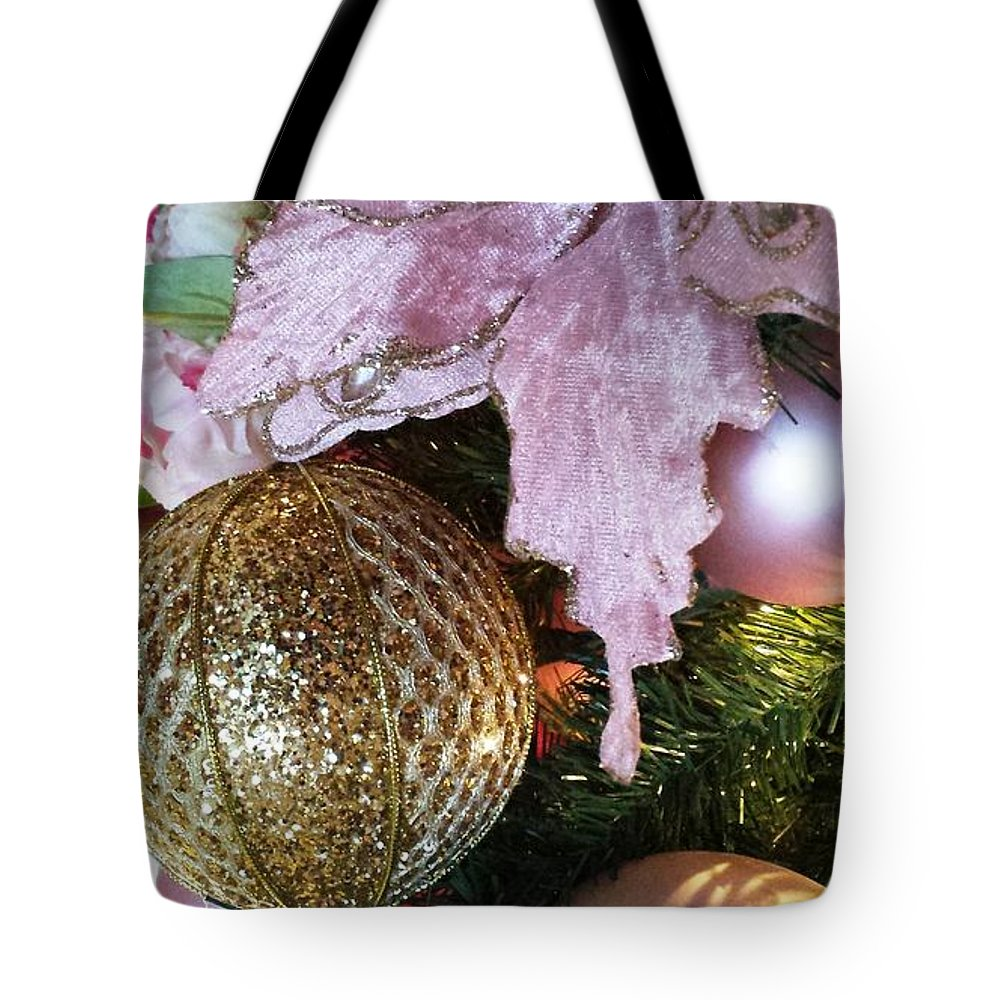 Greeting Tote Bag featuring the photograph White Ornaments Holiday Card by Sharon Eng