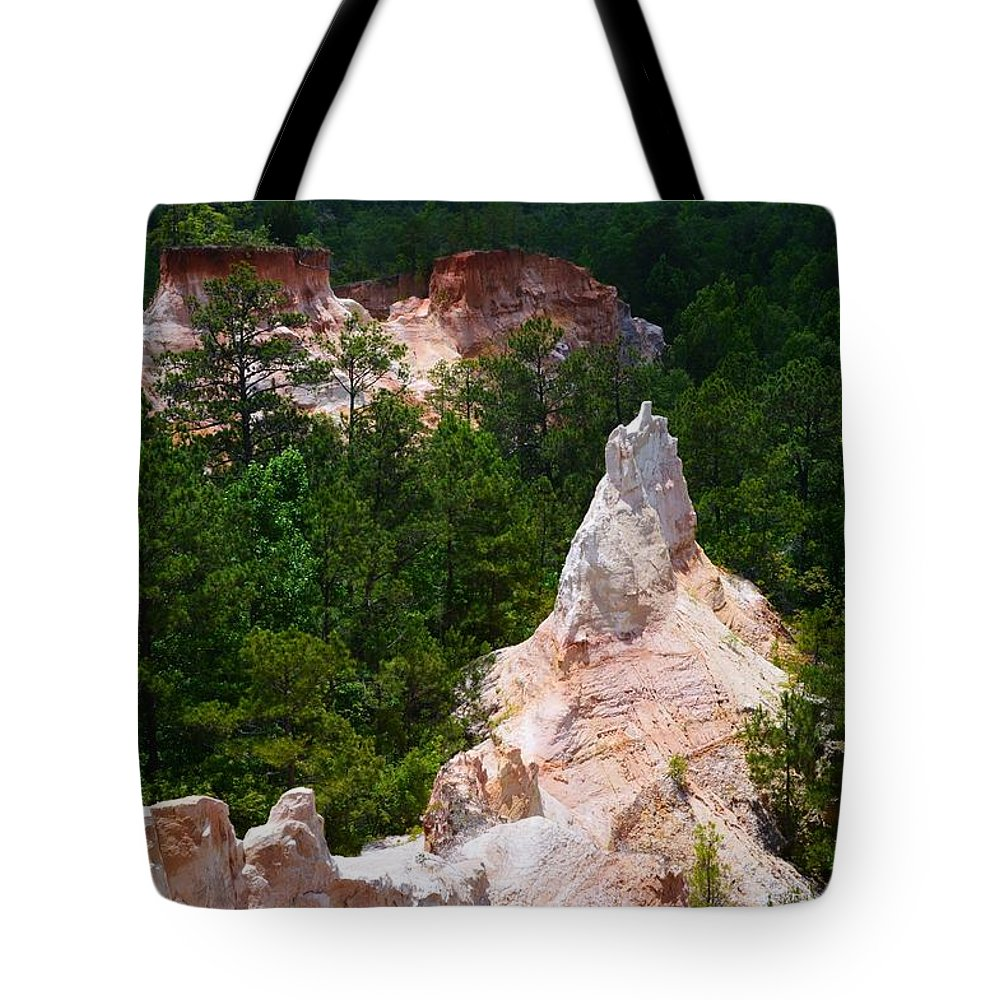 White Pinniacle Tote Bag featuring the photograph White Pinniacle by Warren Thompson