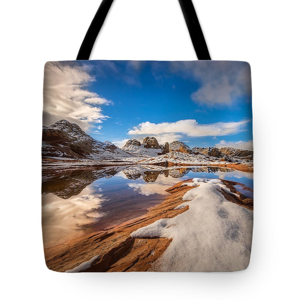 Snow Tote Bag featuring the photograph White Pocket Northern Arizona by Larry Marshall
