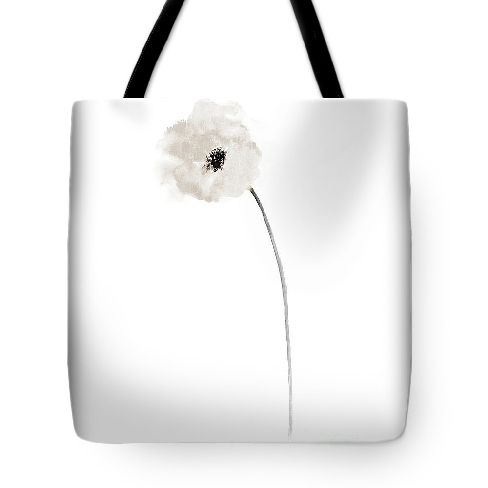 White Poppy Bride Wedding Gift Ideas Minimalist Floral Illustration