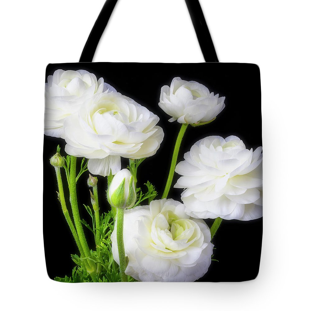 White ranunculus flowers tote bag for sale by garry gay white ranunculus tote bag featuring the photograph white ranunculus flowers by garry gay mightylinksfo