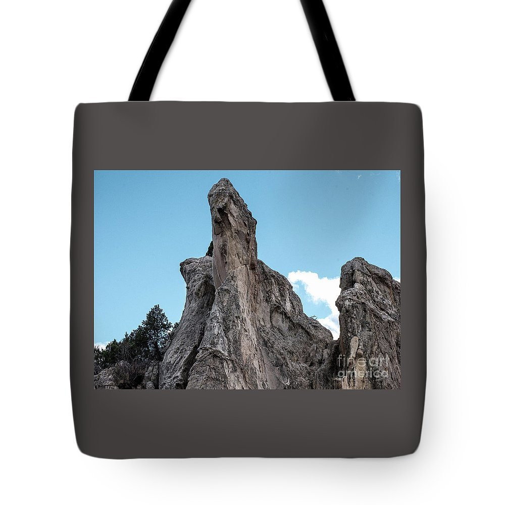 Colorado Springs Tote Bag featuring the photograph White Rock, Garden Of The Gods by Jennifer Mitchell