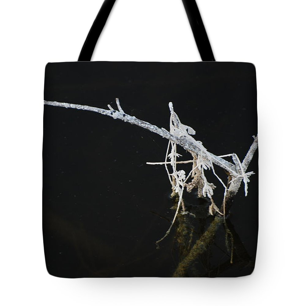Black And White Tote Bag featuring the photograph White Stick by Rob Hans