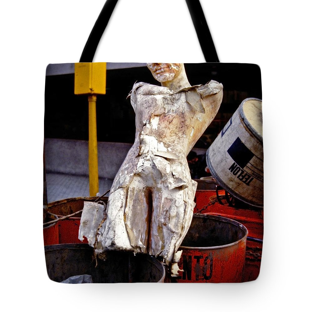 Trash Tote Bag featuring the photograph White Trash by Skip Hunt