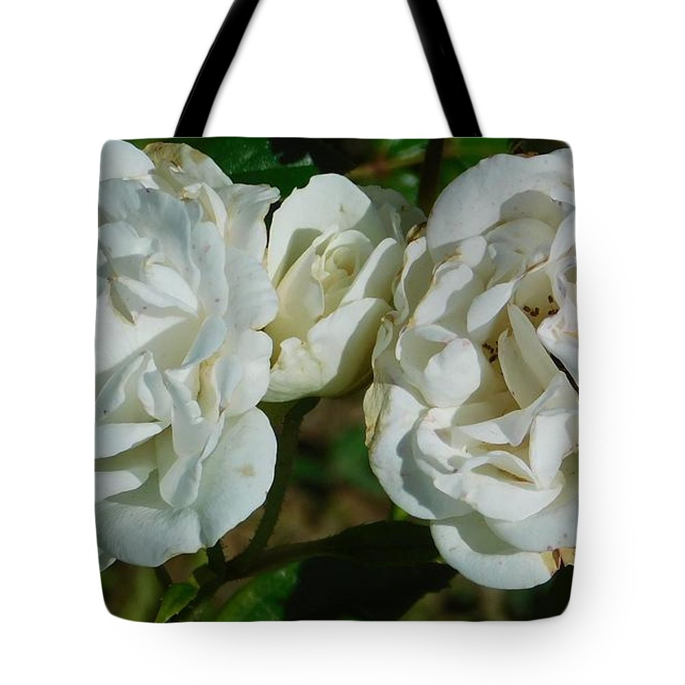Flowers Tote Bag featuring the photograph White Twin Flowers by Gregory Farmer