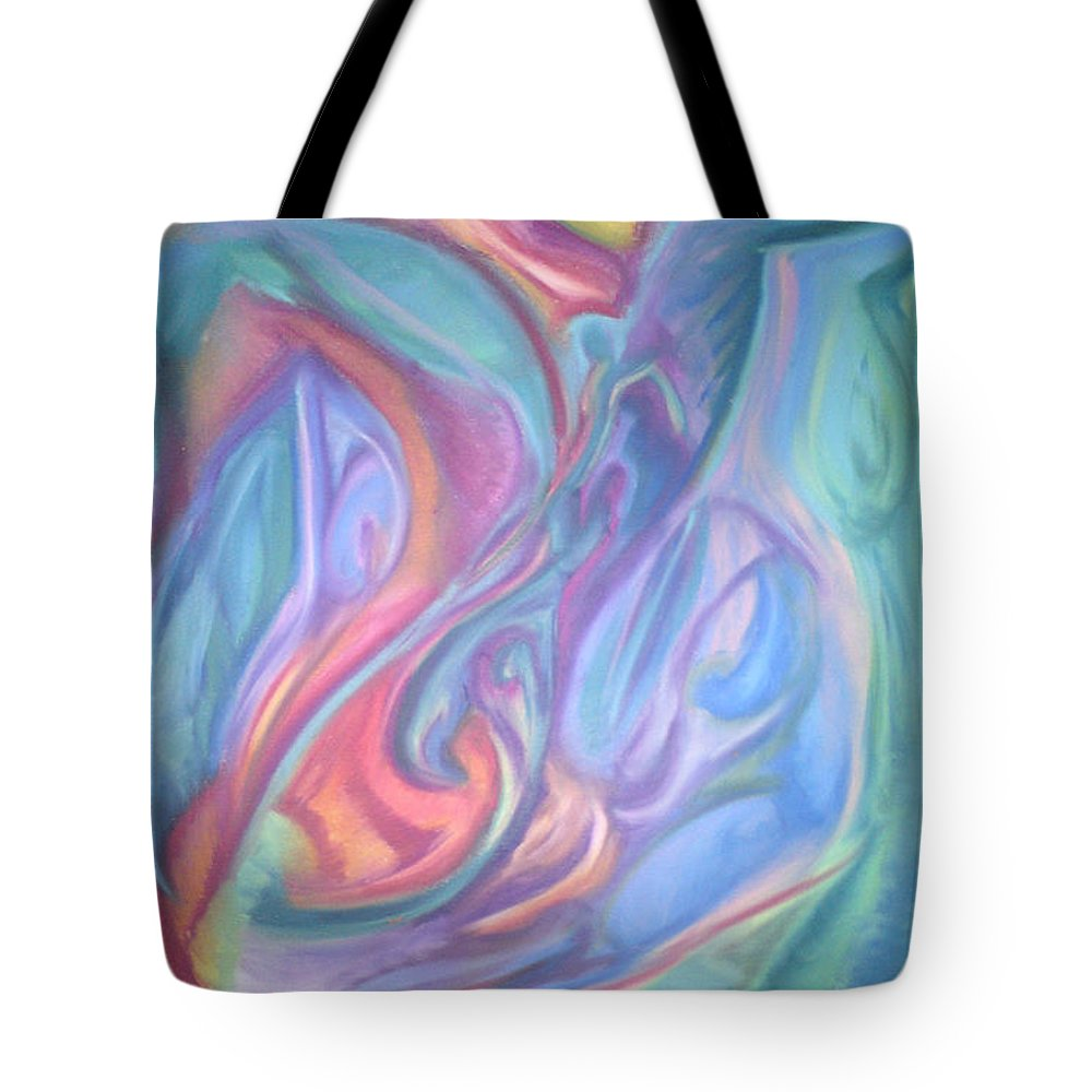 Tote Bag featuring the pastel Whitout Titel by Sitara Bruns
