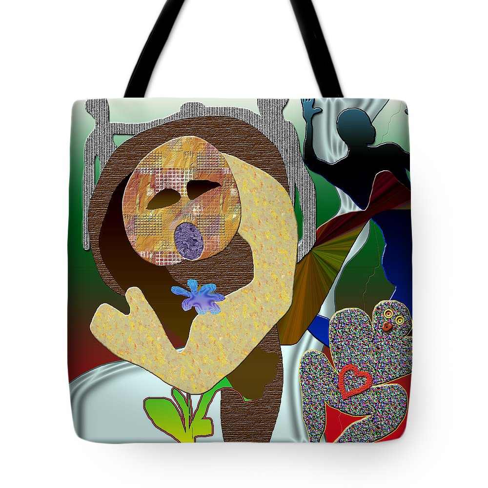 Flower Tote Bag featuring the digital art Whitout Title by Sitara Bruns