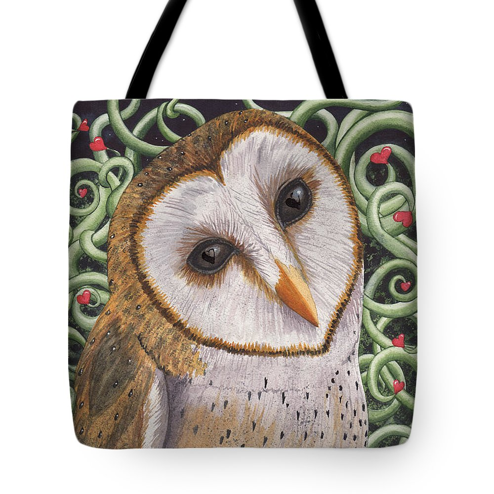 Owl Tote Bag featuring the painting Who do you love ? by Catherine G McElroy