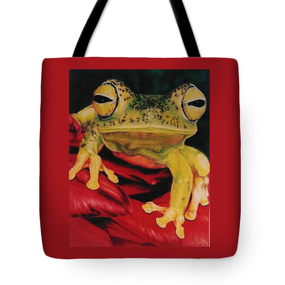 Art Tote Bag featuring the drawing Who Loves Ya by Barbara Keith