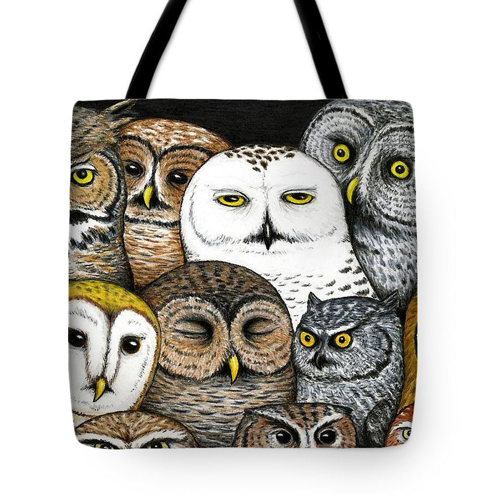 Art Tote Bag featuring the painting Who's Hoo by Don McMahon