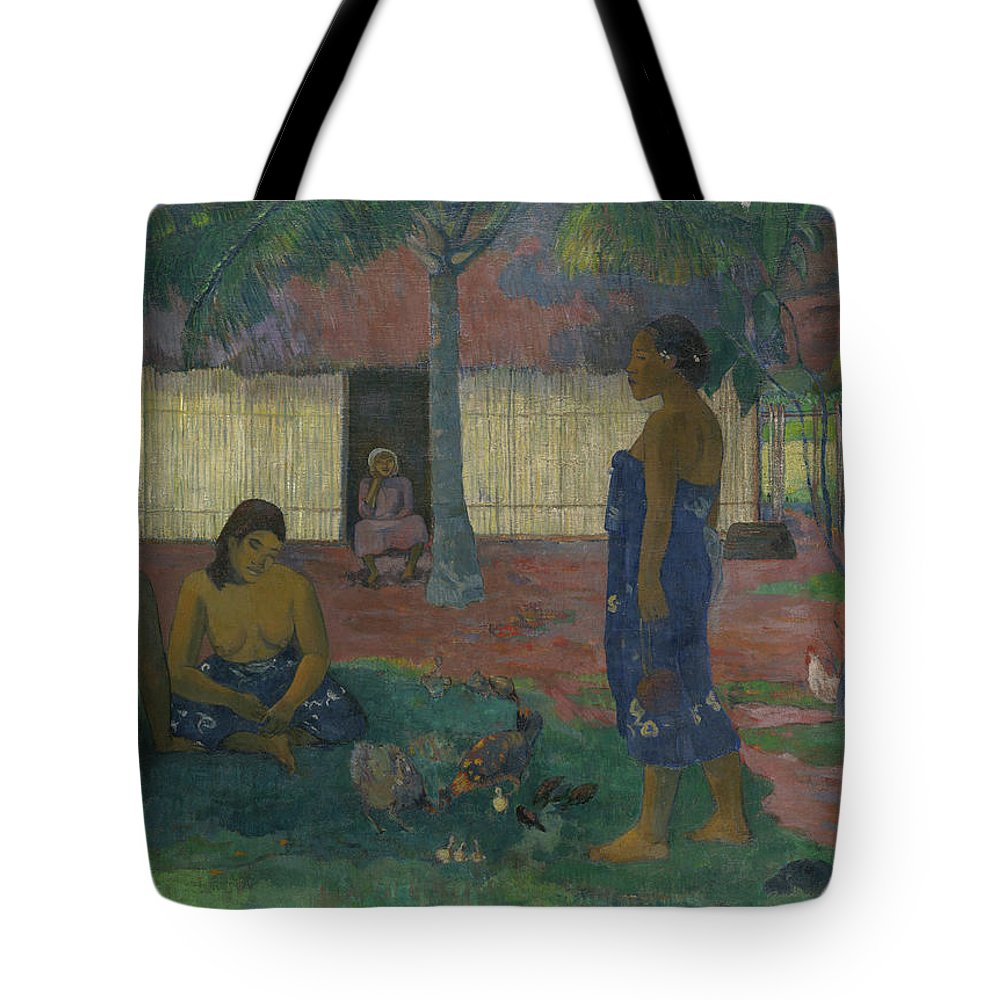 Gauguin Tote Bag featuring the painting Why Are You Angry by Paul Gauguin