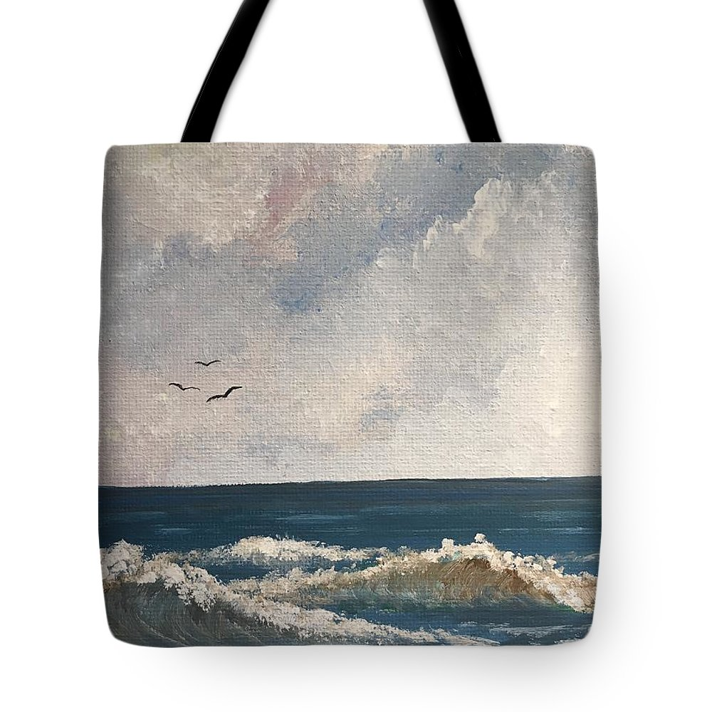 Landscape Painting Tote Bag featuring the painting Why We Didn't Do More by Sweeney