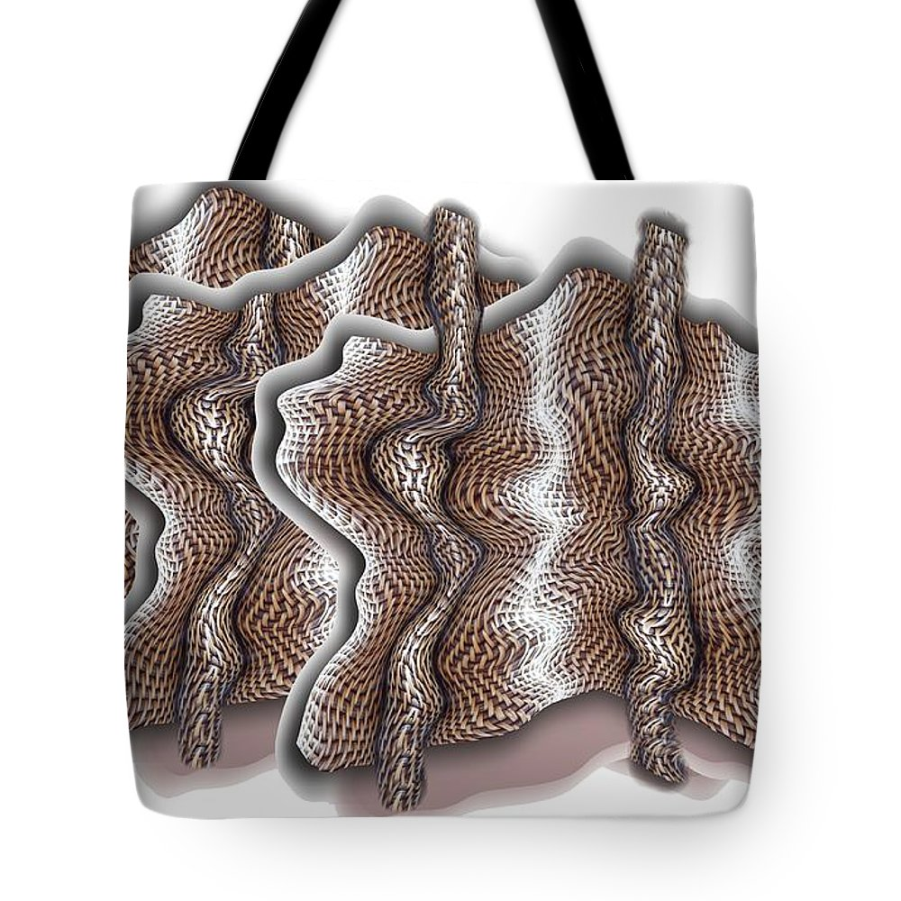 Basket Tote Bag featuring the digital art Wickered by Ron Bissett