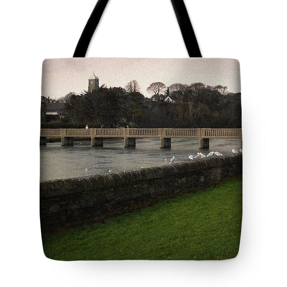 Footbridge Tote Bag featuring the photograph Wicklow Footbridge by Tim Nyberg