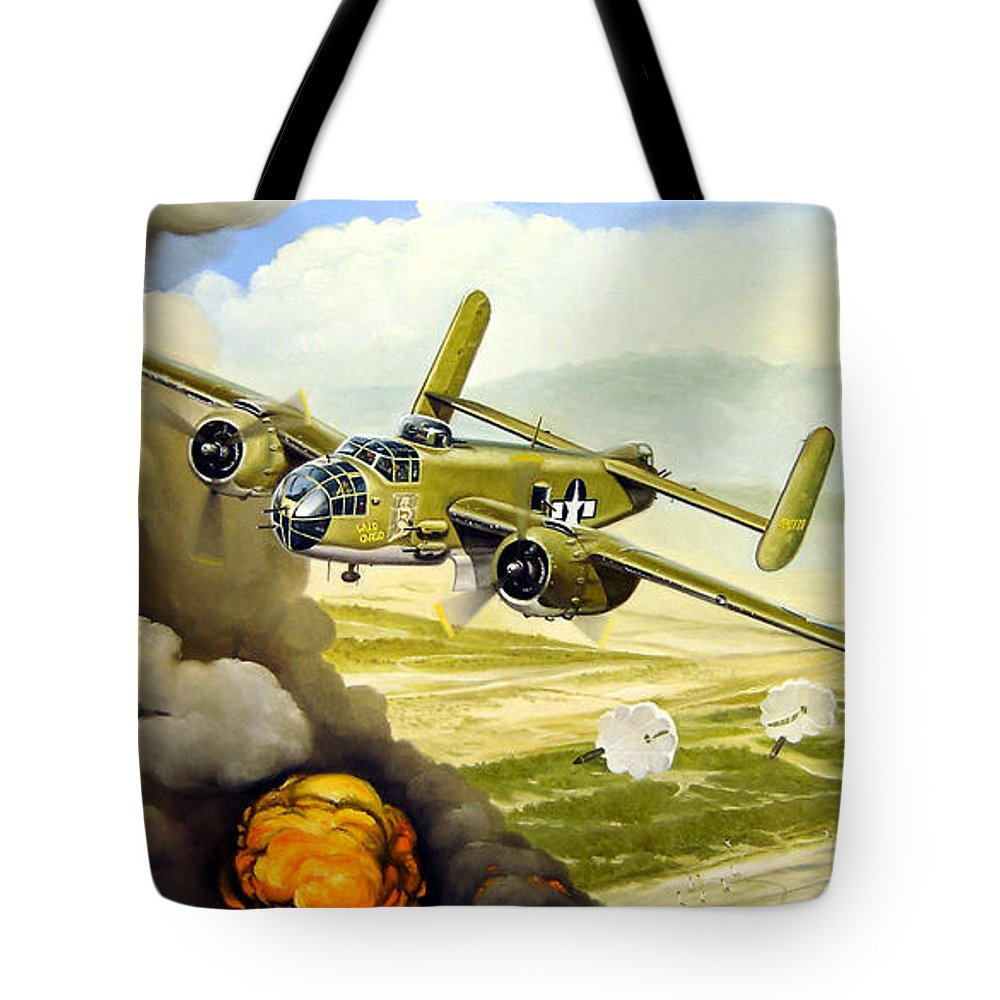 Aviation Tote Bag featuring the painting Wild Cargo by Marc Stewart