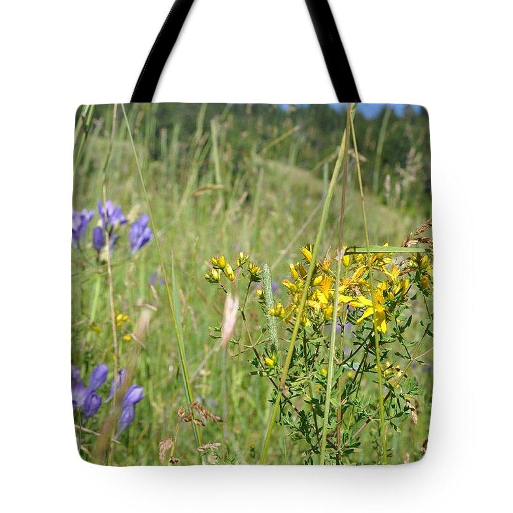 Flower Tote Bag featuring the photograph Wild-flower by Rachel Young