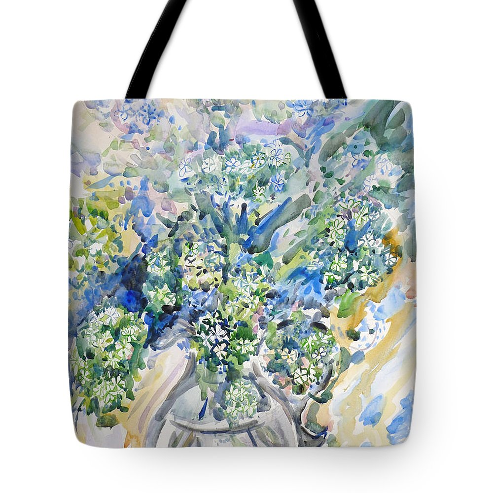 Still Life Tote Bag featuring the painting Wild Flowers #2 by Nellya Veller