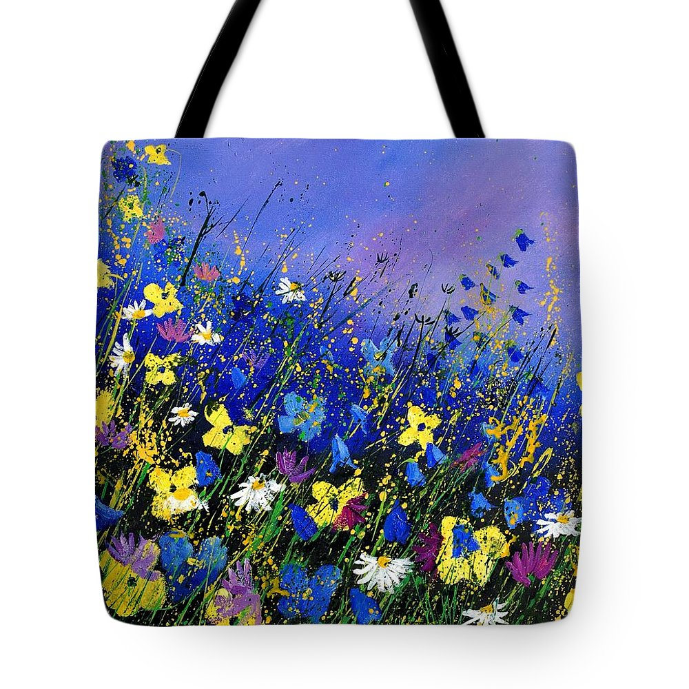 Flowers Tote Bag featuring the painting Wild Flowers 560908 by Pol Ledent