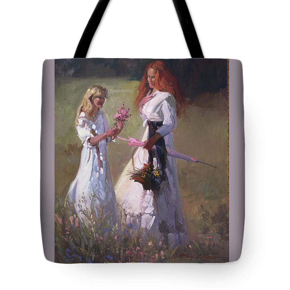 Flowers Tote Bag featuring the painting Wild Flowers by Betty Jean Billups