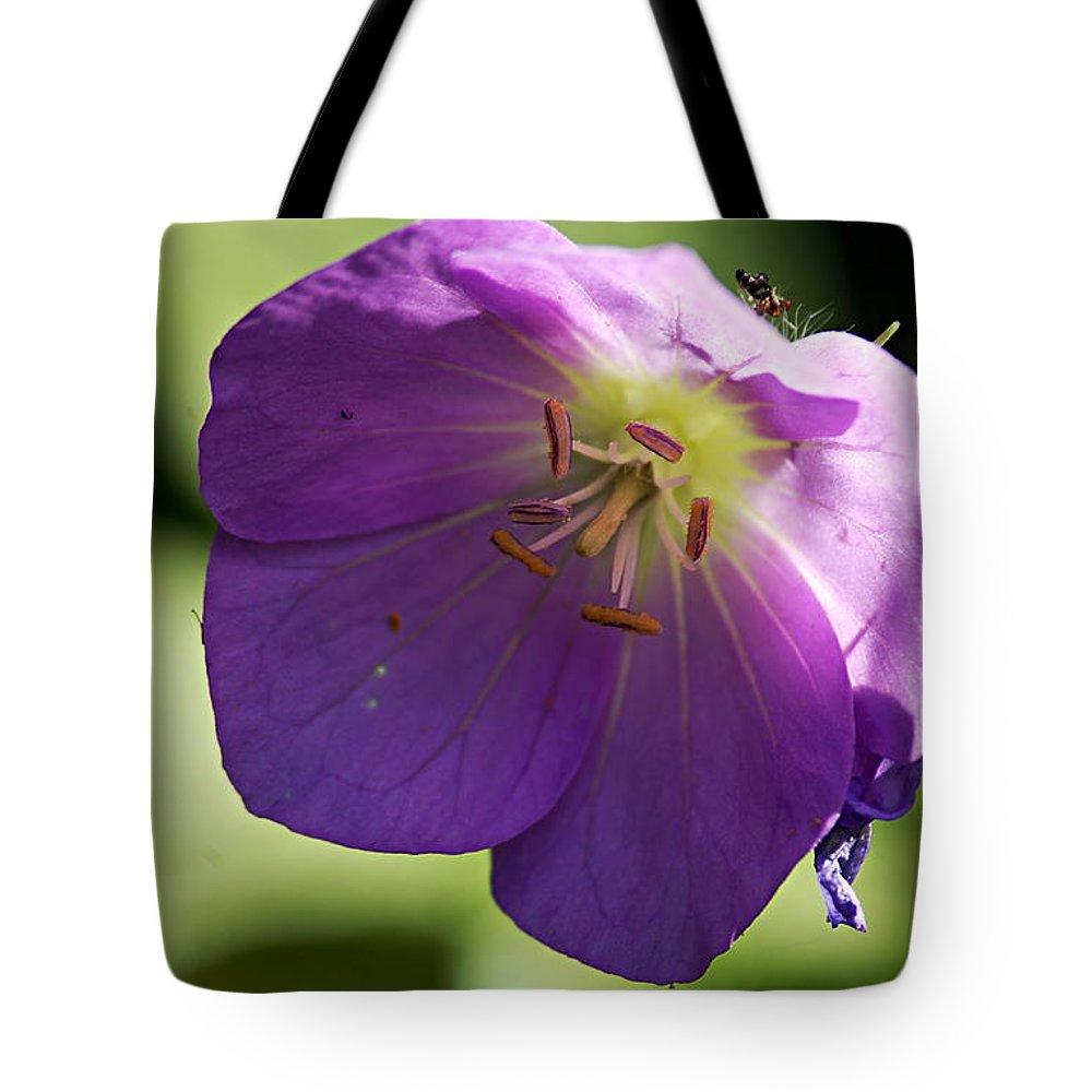 Geranium Tote Bag featuring the photograph Wild Geranium by Larry Ricker