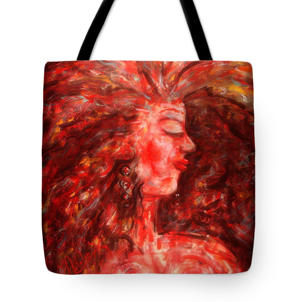 Female Tote Bag featuring the painting Wild One by Natalie Holland