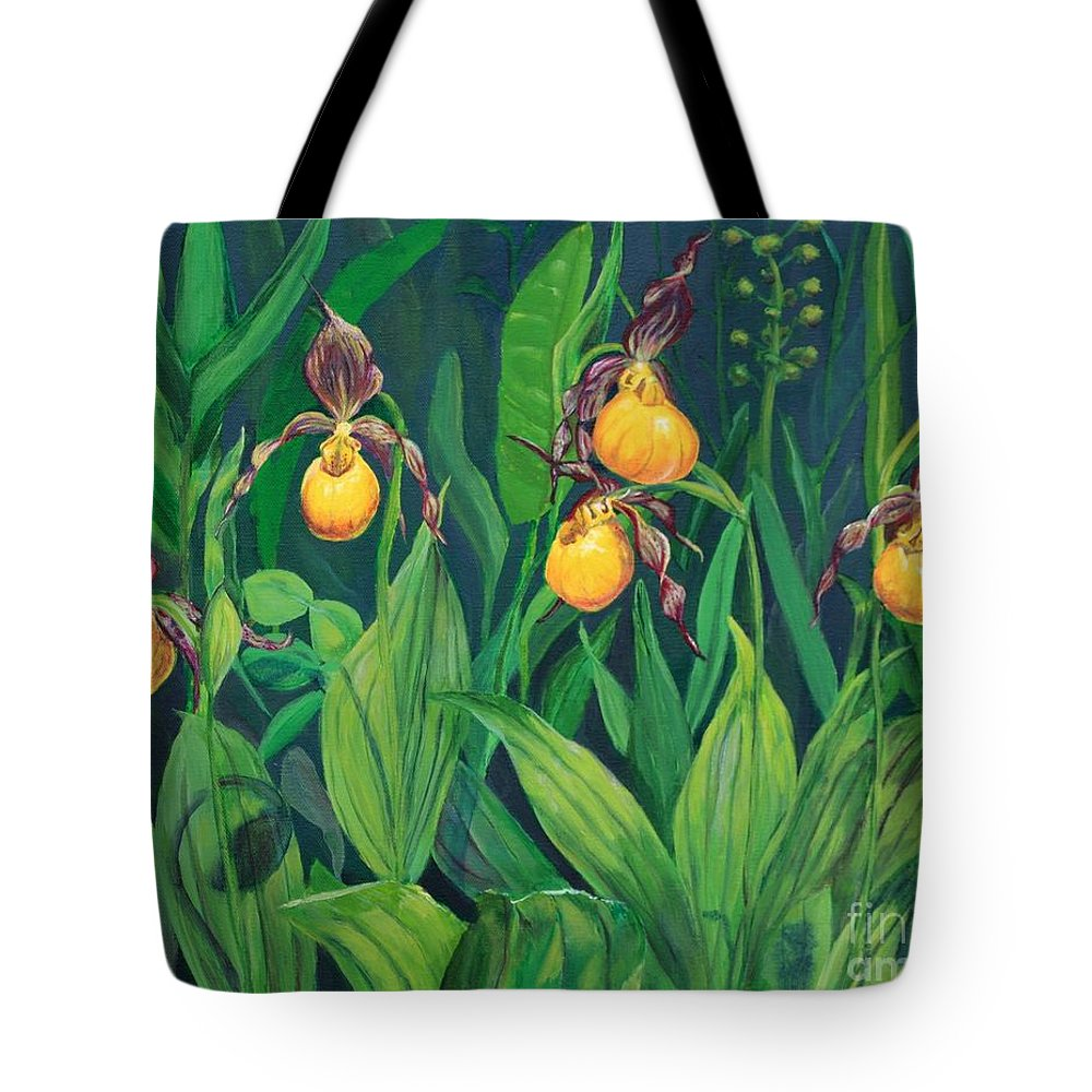 Wild Orchids Tote Bag featuring the mixed media Wild Orchids by Cristine Wells