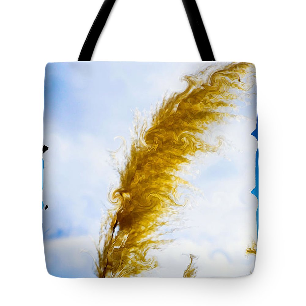 Wild Plant Tote Bag featuring the painting Wild Plant 2 by Jeelan Clark