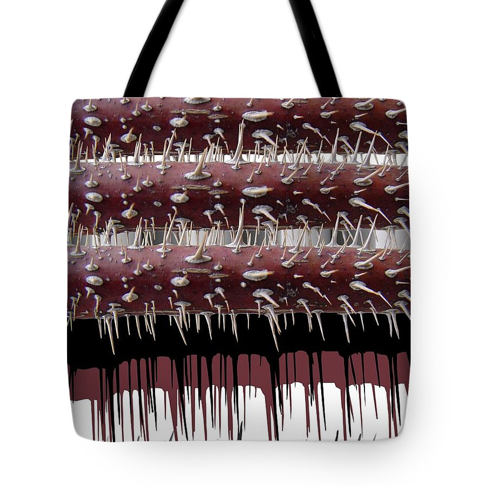 Wild Rose Tote Bag featuring the digital art Wild Rose by Ron Bissett
