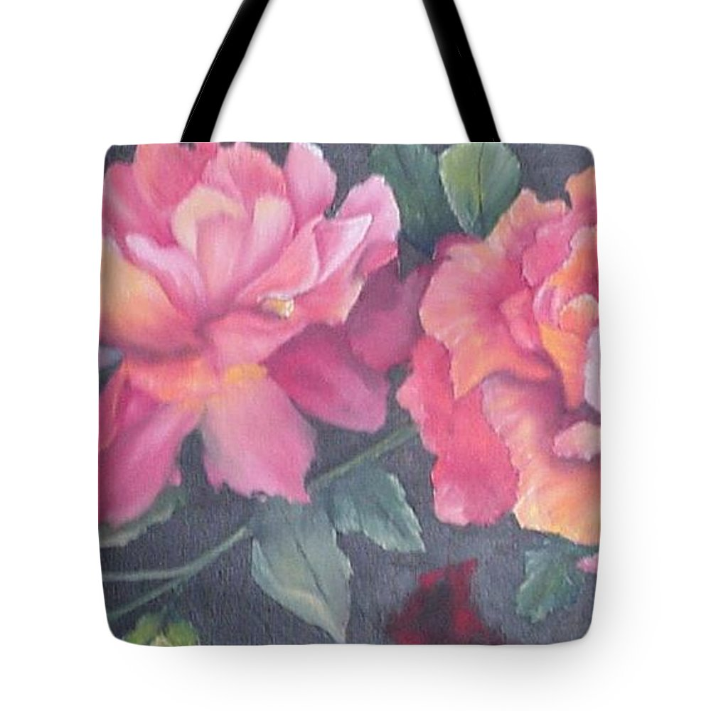 Rose Tote Bag featuring the painting Wild Roses by Barbara King