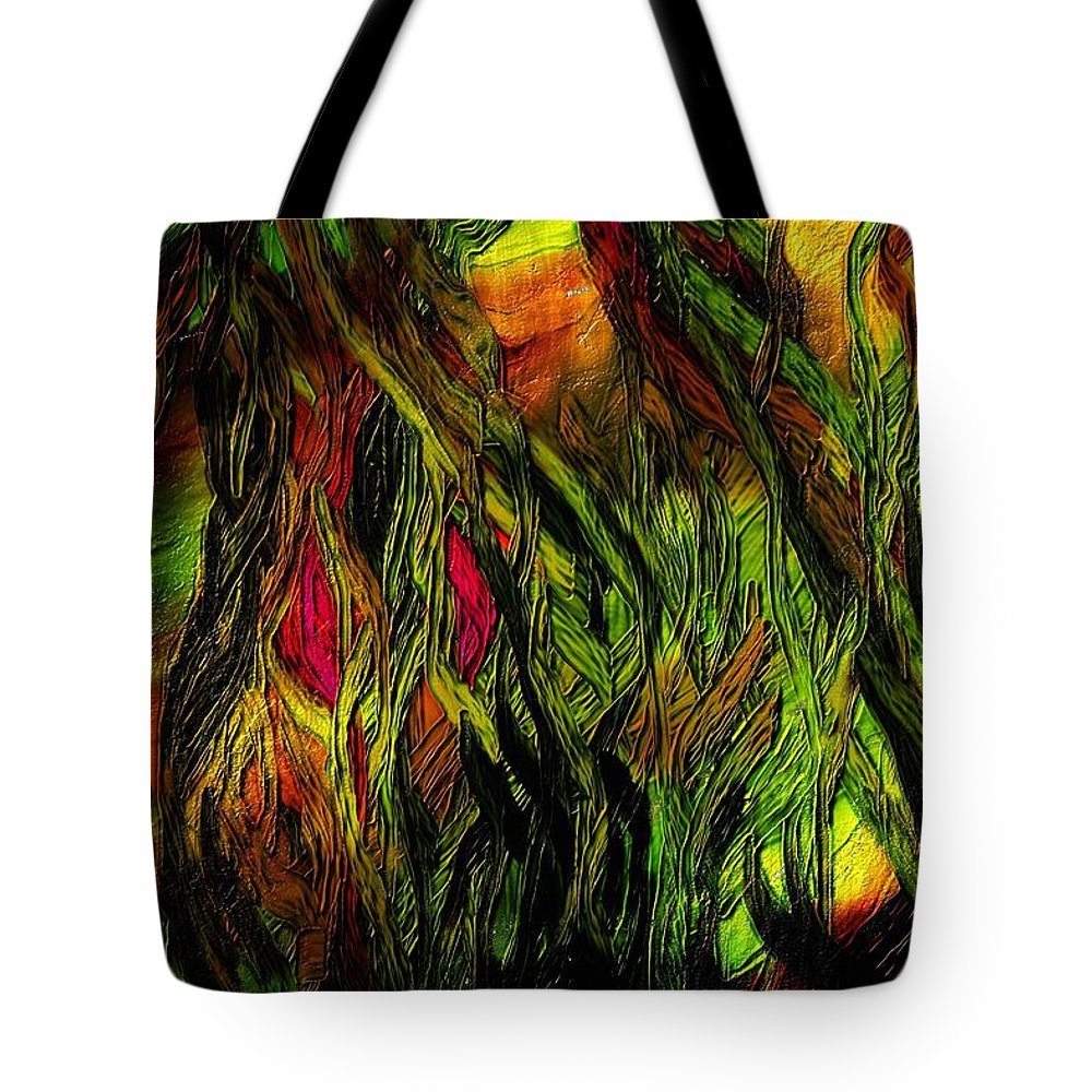 Fine Art Tote Bag featuring the digital art Wild Scape by David Lane