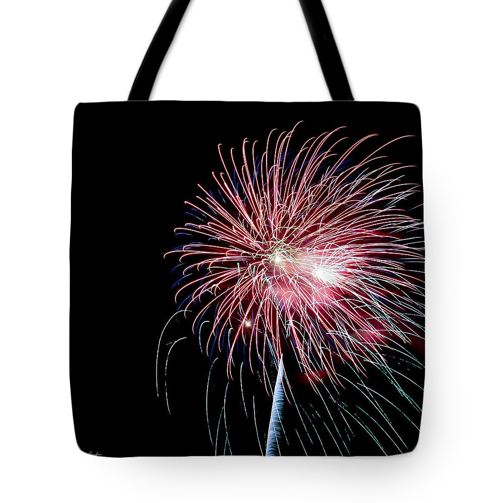 July 4th Tote Bag featuring the photograph Wild Sky Flower by Phill Doherty
