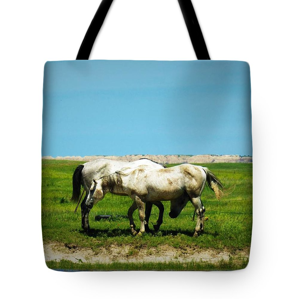 Grass Tote Bag featuring the photograph Wild South Dakota by Elizah Monai