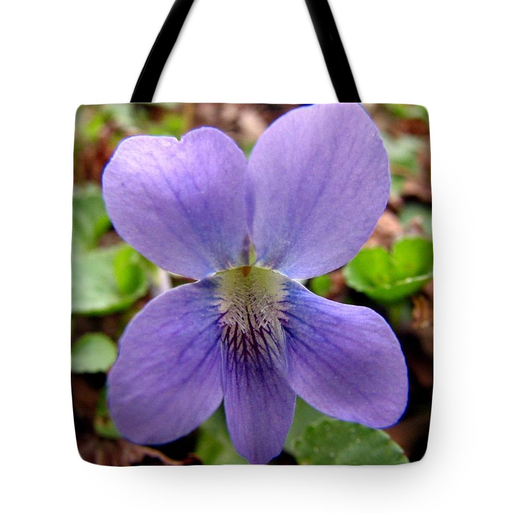 Violet Tote Bag featuring the photograph Wild Violet 2 by J M Farris Photography