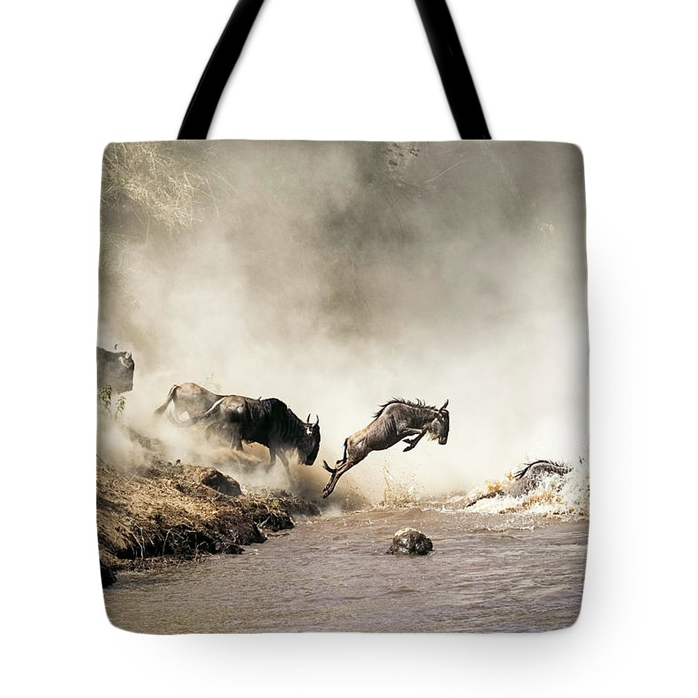 Jump Photographs Tote Bags
