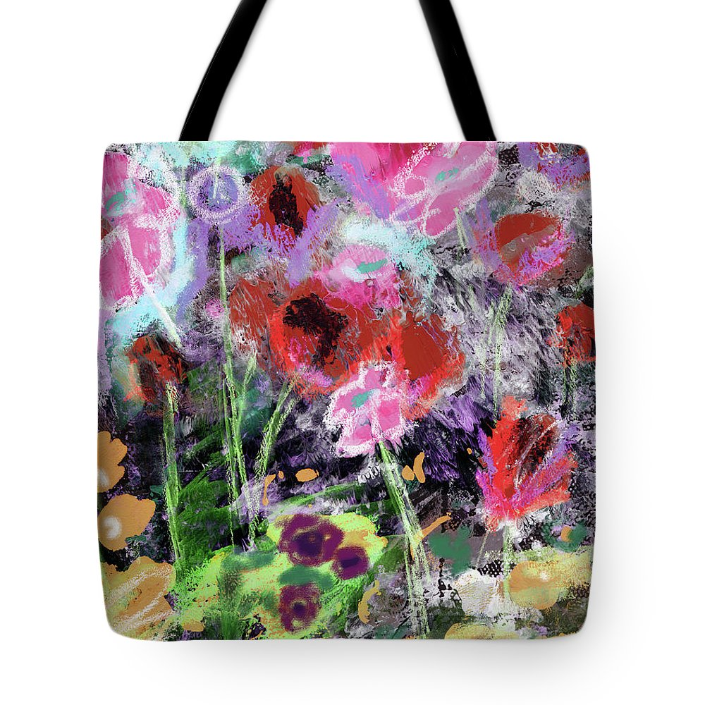 Flowers Tote Bag featuring the mixed media Wildest Flowers 2- Art By Linda Woods by Linda Woods