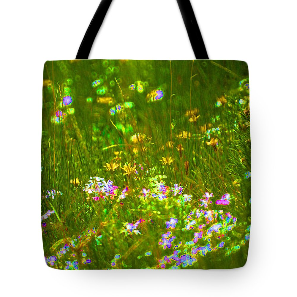 Wildflower Tote Bag featuring the photograph Wildflower Field by Heather Coen