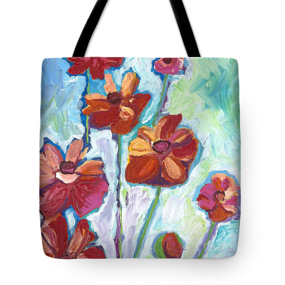 Flowers Tote Bag featuring the painting Wildflowers by Kirsten Throneberry