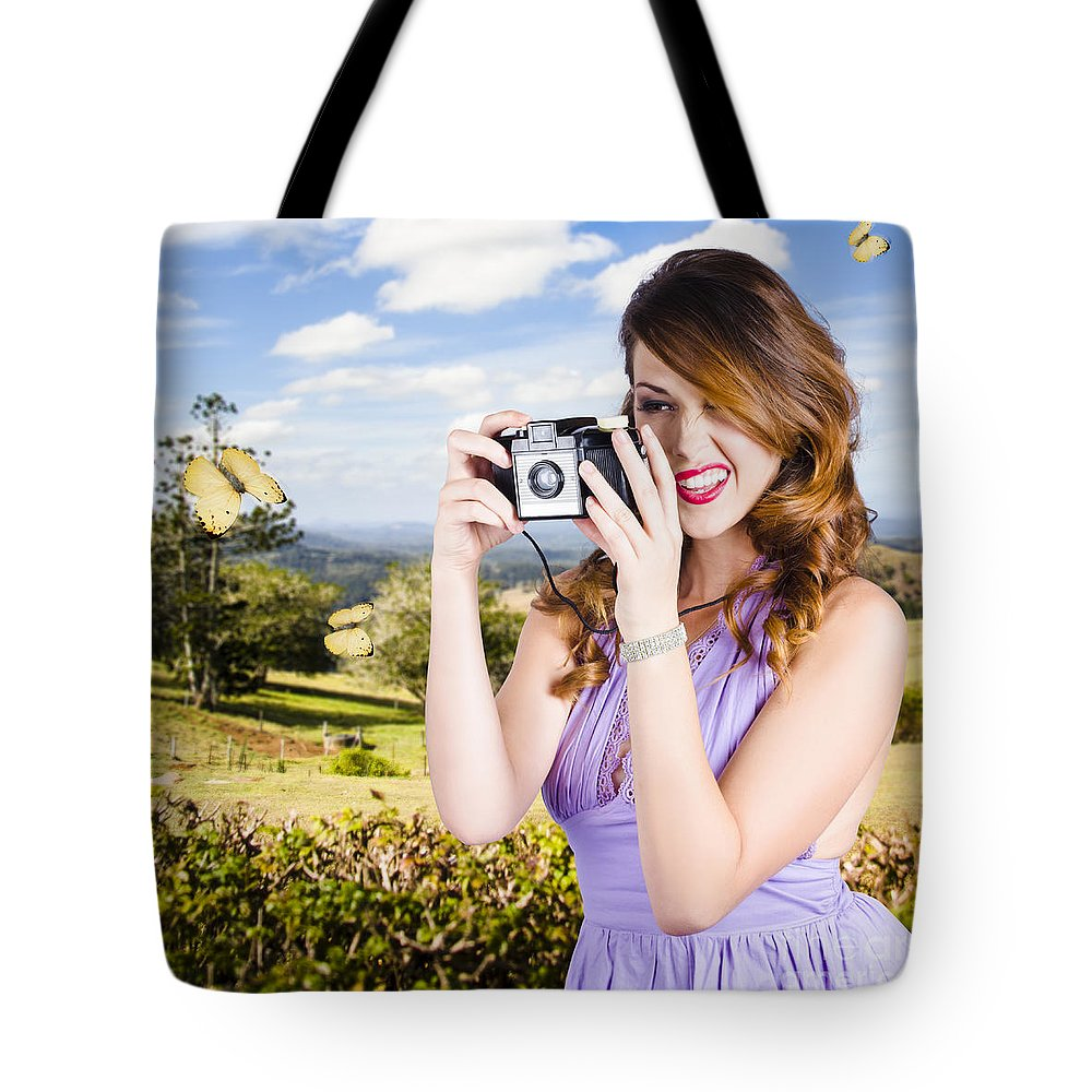 Photographer Tote Bag featuring the photograph Wildlife Photographer Shooting Insects And Nature by Jorgo Photography - Wall Art Gallery