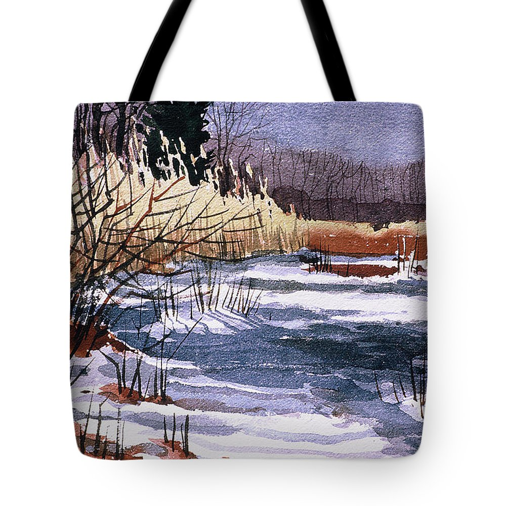 New Jersey Tote Bag featuring the painting Wildlife Reserve by Donald Maier