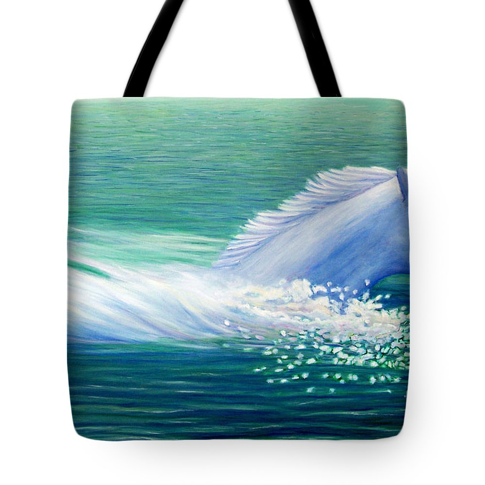 Horse Tote Bag featuring the painting Will Power by Brian Commerford