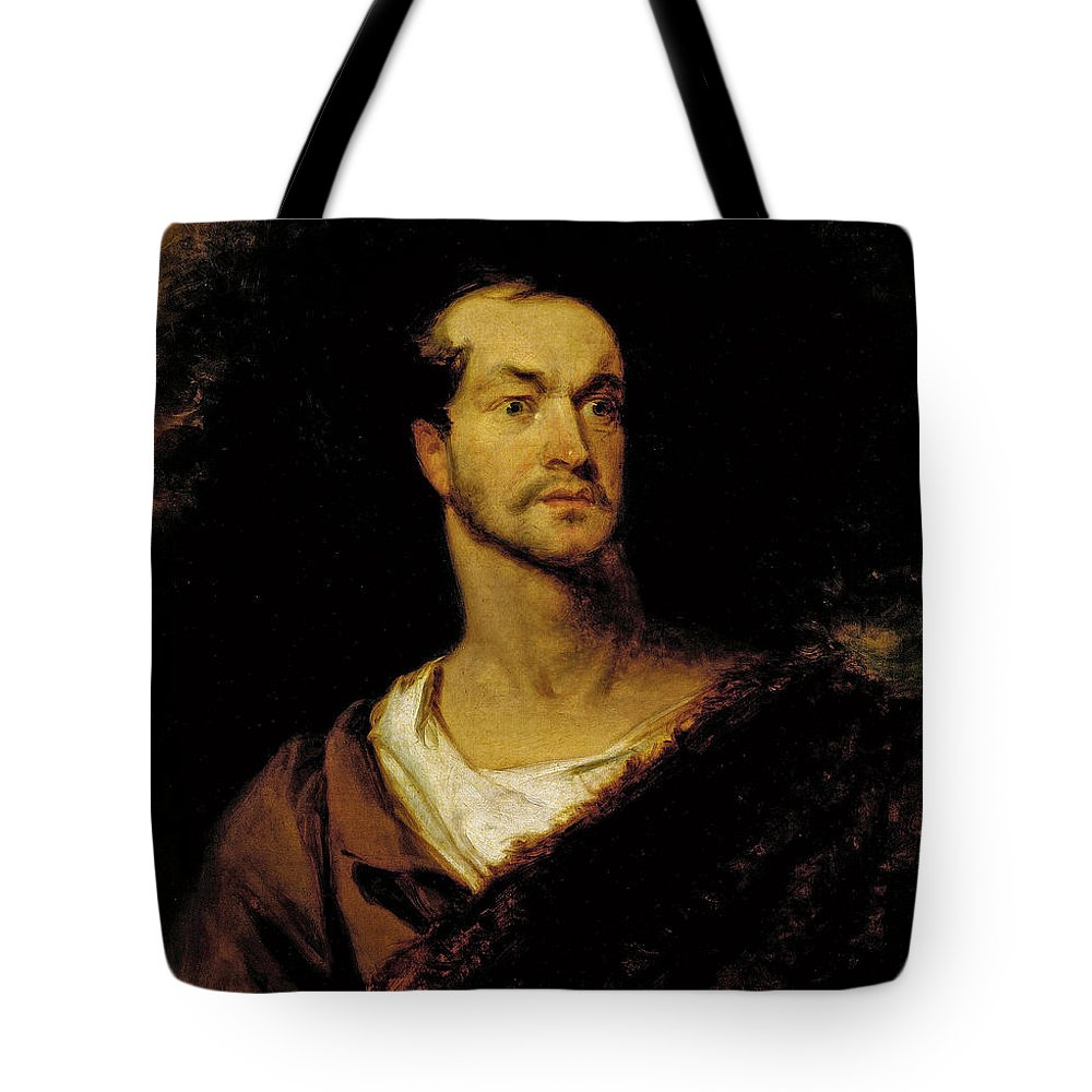 Henry Inman Tote Bag featuring the painting William Charles Macready As William Tell by Henry Inman