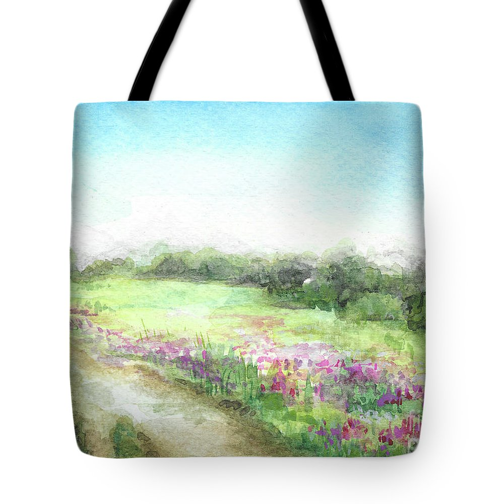 Willow Tote Bag featuring the painting Willow-herb by Yana Sadykova