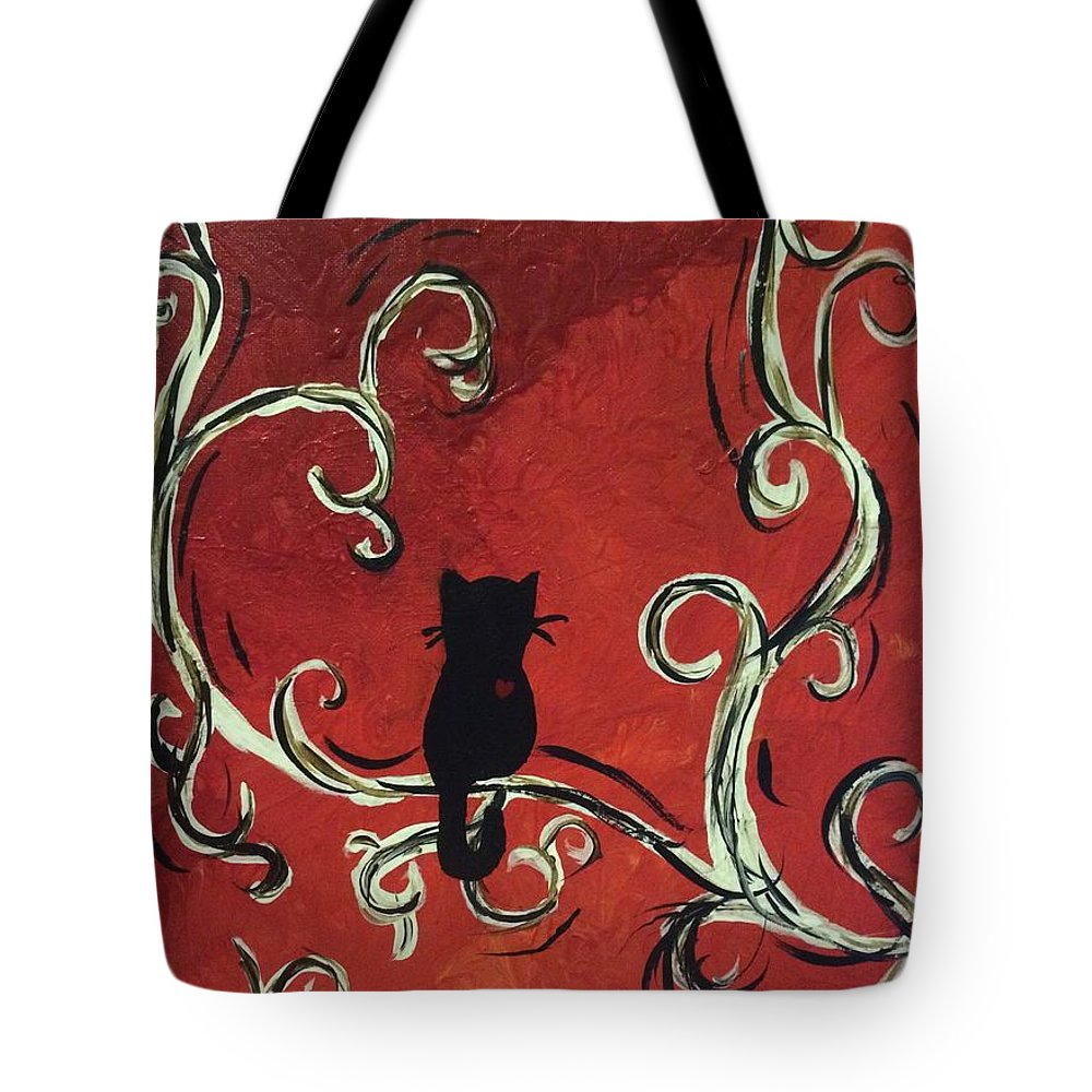 Cat Tote Bag featuring the painting Willowing Tree by Haylee Reece
