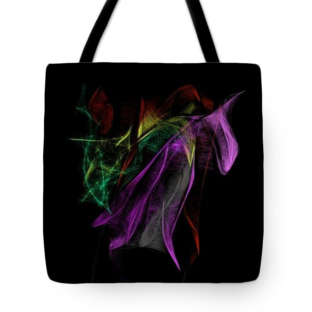 Flowers Tote Bag featuring the drawing Wilted tulips by Kerri Thompson