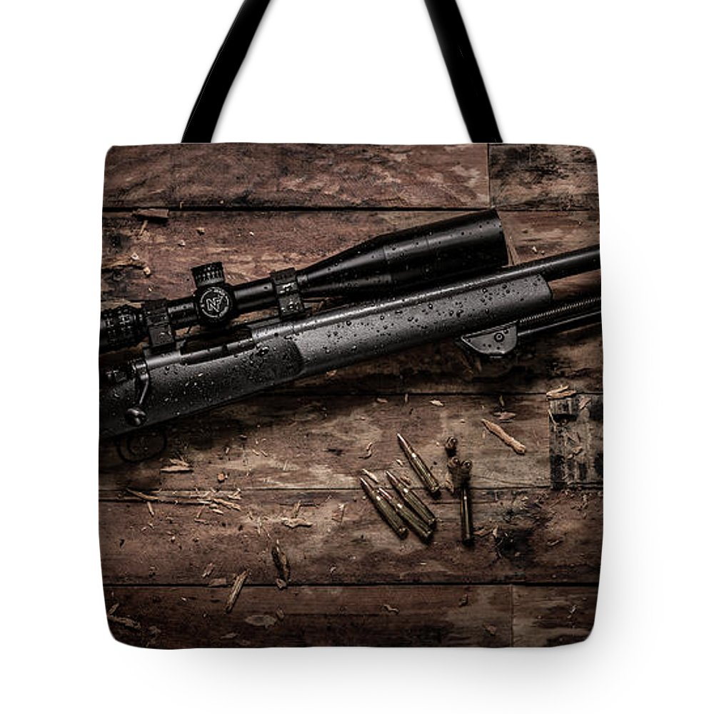 Winchester Tote Bag featuring the photograph Winchester M70 by Robert Pepper